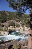 Wild Kootenai River Falls in Northwestern Montana2. The Kootenai Falls in Northwestern Montana. the River of the Kootenai flows through rugged rocks cut by time stock photo