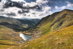 Wild Lake high in the mountains of Ukraine Stock Photo