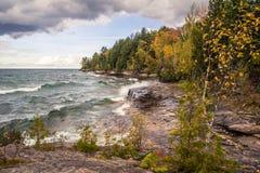 Wild Lake Superior Shore Stock Images