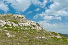 Wild landscape in Crimean limestone mountains Stock Photo