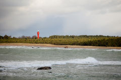 Wild Landscape with Lighthouse Stock Photo