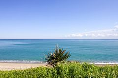 Wild landscape of the Mediterranean Sea in Spain Royalty Free Stock Photo