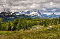 Wild landscape mountain range view, Banff national park, Canada stock photo
