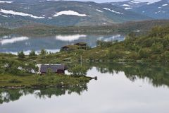 Wild landscape in Norway, Europe, in summer. Royalty Free Stock Photo