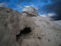 Wild landscape of Pamukkale, Turkey. Pamukkale, Turkey with calcium carbonate deposits Royalty Free Stock Photo