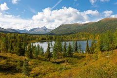 Wild landscape in Ural Mountains. Royalty Free Stock Photography