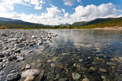 Wild landscape in Ural Mountains. Royalty Free Stock Images