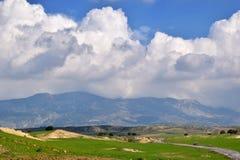 Wild landschap in Cyprus Stock Afbeeldingen