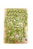 Wild leek & spinach gnocchi Stock Photos