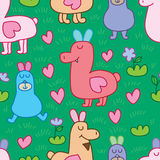 Wild Llama crazy seamless pattern Royalty Free Stock Image