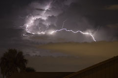 Wild Lightning Strike. Lightning and thunder in Central Florida royalty free stock images