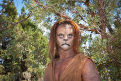Wild Lion Man in forest Royalty Free Stock Image