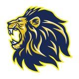 Wild Lion Roaring Head Mascot Vector Stock Images
