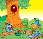 Wild little animals vector illustration