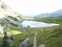 Wild little lake in Dolomiti, Italy Stock Photography
