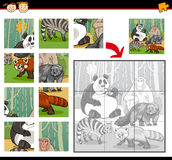 Wild mammals jigsaw puzzle game Royalty Free Stock Images