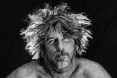 Wild Man. A man with wild hair Royalty Free Stock Photos