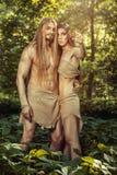 Wild men. Royalty Free Stock Photos
