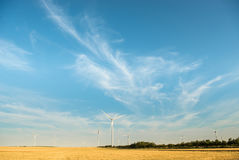 Wild mill in field. Power and energy Stock Image