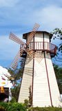 Wild mill town. The wild town is stand on the land for checkind wind Stock Photo