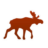 Wild moose silhouette vector illustration