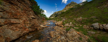 Wild mountain. Panorama Gorge in the Mountains Royalty Free Stock Photography