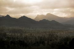 Dramatic Mountain Landscape Stock Photo