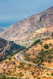 A wild mountain landscape near cave of Agia Sofia stock photos