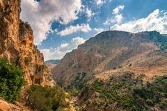 A wild mountain landscape near cave of Agia Sofia royalty free stock image
