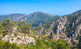 Wild mountain landscape. South part of Corsica Royalty Free Stock Images