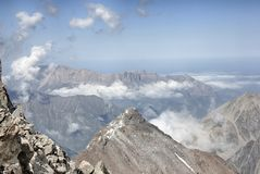 Wild mountain landscape. View from a height. Stock Images