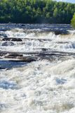 Wild river with cascade waterfalls Royalty Free Stock Photography