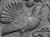 Wild mountain rooster metallic ornament. Photography of mountain rooster metallic ornament. Additional RAW file format available for download royalty free stock images