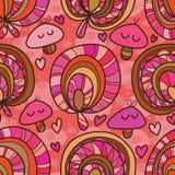 Wild mushroom seamless pattern Stock Images