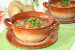 Wild mushroom soup Stock Photo