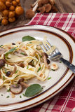 Wild Mushrooms Pasta Stock Photo
