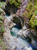 Wild nature. Torrent on canyon in austria Stock Photo
