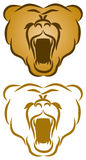 Wild Nature Logo. A wild nature bear face logo Icon royalty free illustration