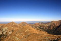 Mountains. Wild nature and monumental mountains in High Tatras, Slovakia Stock Photos
