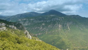 Wild nature of Pre Alpes in South France stock video