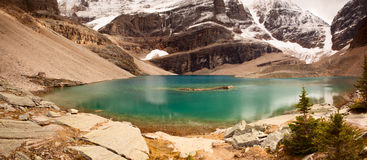 Wild nature in Rocky Mountains-Panorama-lake osea Royalty Free Stock Photo