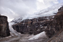 Wild nature in Rocky Mountains ,Plain of six glaciers. Canada Royalty Free Stock Photo