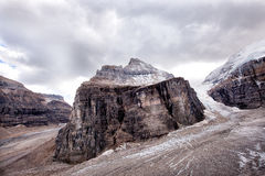 Wild nature in Rocky Mountains ,Plain of six glaciers royalty free stock photography