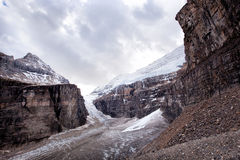 Wild nature in Rocky Mountains ,Plain of six glaciers Royalty Free Stock Images