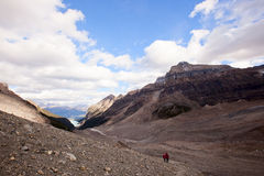 Wild nature in Rocky Mountains ,Plain of six glaciers Stock Photos