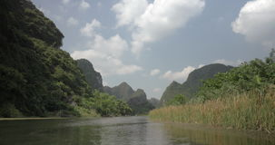 Wild nature of Trang An in Vietnam stock video