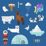 Wild north arctic people vector. Royalty Free Stock Photography