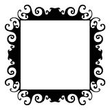 Wild organic black frame Stock Images