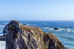 Wild pacific coast stock image