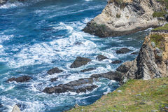 Wild pacific coast at point arena stock images